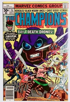 The Champions #15 (Sep 1977, Marvel) FN/VF