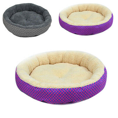 Round Shape Nest Pet Dog Puppy Cat Soft Cozy Indoor Bed Kennel Warm House New