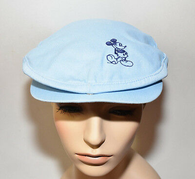 Vintage Walt Disney Mickey Mouse Beret baby blue embroidered Golf Hat old WAB