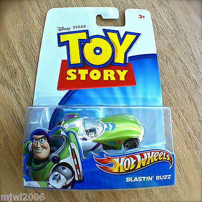 Disney PIXAR Toy Story BLASTIN' BUZZ Hot Wheels diecast Mattel Lightyear INTL