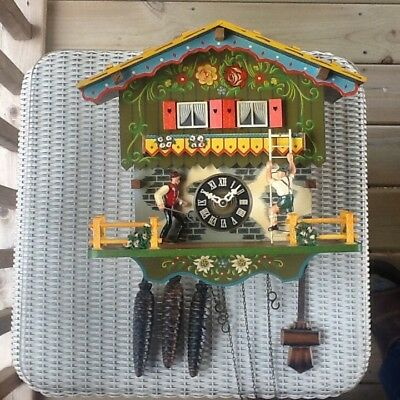 Black Forest Farmer's Daughter Chalet-style Cuckoo Clock - RARE