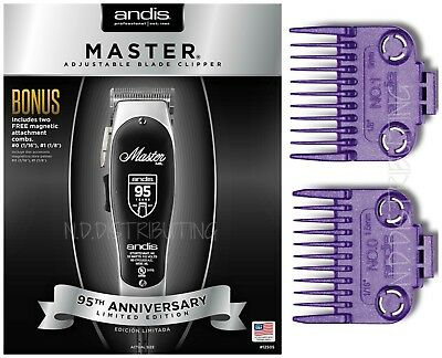 Andis ML Master 95TH LIMITED EDITION #12505 Adjust Blade Clipper W/ #0, #1 combs