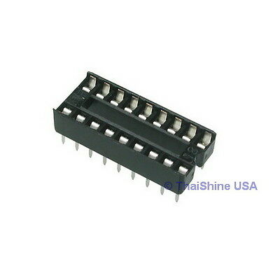 20 x 18 pin DIP IC Sockets Adaptor Solder Type Socket - USA Seller - Free Ship