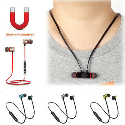 Bluetooth4.1 Stereo Earphone Headset Wireless Magnetic In-Ear Earbuds Headphone