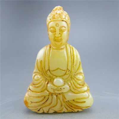 China, manual sculpture, natural jade, guanyin, pendant U12