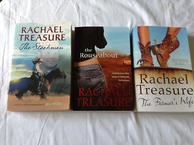 3 RACHEL TREASURE BOOKS Bulk Lot!