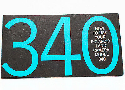 Polaroid 340 Instant Film Land Camera Manual Instructions Guide English 1960s
