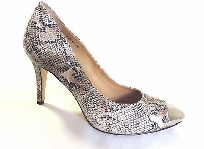 Staccato, Leather Pumps, snake print women's shoes, heels, size 8 (39)