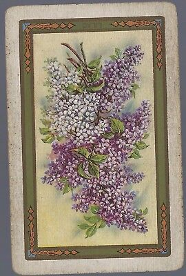 Vintage Playing Swap Cards  LILAC