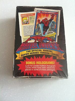 3x Marvel Universe Super Heroes Trading Cards Pack 12 Cards 1990  (3packs)$6.60