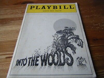 1987 -  Theatre  Programme -  Into The Woods - Martin Beck Theatre -New York Usa