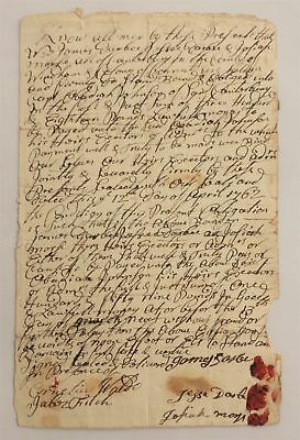 1762 antique COLONIAL BOND cantebury ct DARBY MORSE to Capt OBEDIAH JOHNSON
