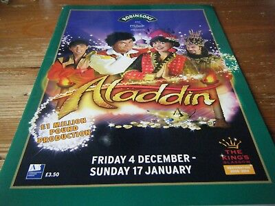 2009   Pantomime  Programme  -  Aladdin  - At The Kings  Theatre  - Glasgow  Vgc