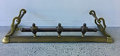 Fire Place Surround Brass Antique/vintage Edwardian Or Victorian Fireplace