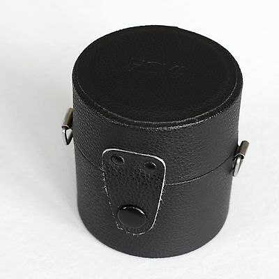 Vintage Genuine HOYA brand black faux-leather hard lens case, great condition!