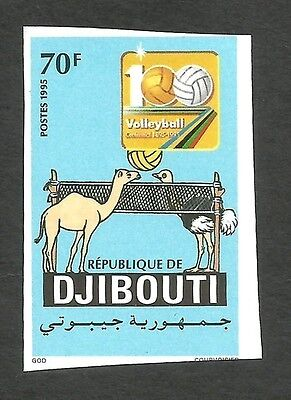 Djibouti #738 1995 Volleyball 70fd imperf MNH
