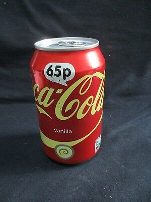 COCA COLA VANILLA - A 330ml EMPTY CAN, MADE IN ENGLAND, EXPORT TO ISRAEL.