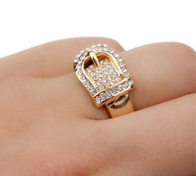 Horse & Western Jewellery Jewelry Wide Western Buckle Ring Gold Size 7 Or N