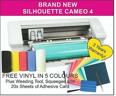 Silhouette Cameo 3 Plotter/Cutter. UK Reseller, 2 Years Warranty. 5 x FREE VINYL