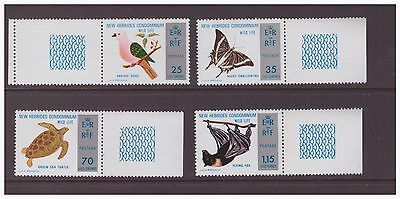 New Hebrides 1974 English issue ,Wildlife Nature set MNH mint stamps