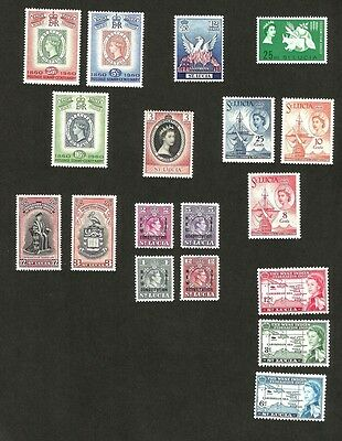 St Lucia 1937-78 MNH collection (153 stamps)