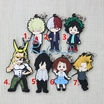 New Hot Japan Anime Boku no Hero Academia Rubber Strap Keychain Pendant Gift B