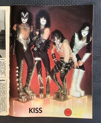 Rare Kiss Australian People Magazine 1977 featuring Kiss poster