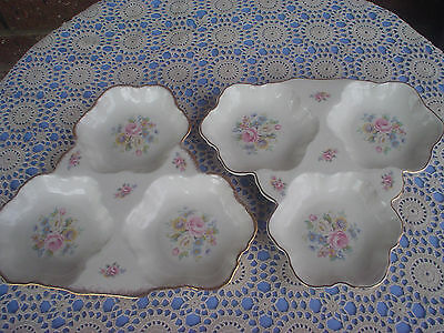 2 Royal Park Staffordshire Divided Dishes Floral Design High Tea