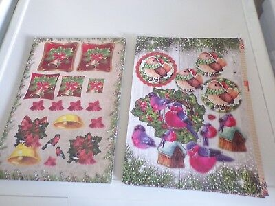 2X 3D Sheets Die Cut No Scissors Need Christmas (A45) New 30X21 Cm