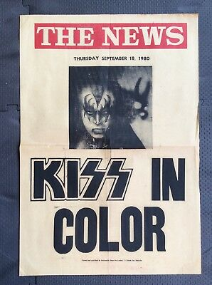Very Rare South Australia Newsagent Advertising poster The News Kiss Tour 1980