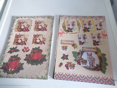 2X 3D Sheets Die Cut No Scissors Need Christmas (A53) New 30X21 Cm