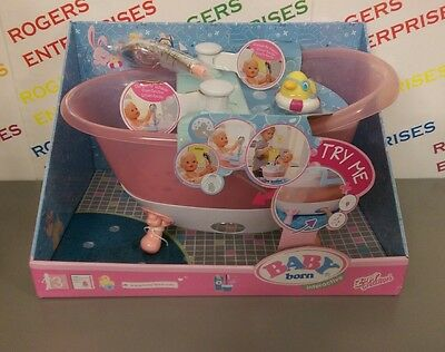 Zapf Baby Born Interactive Bath With Shower Function & Toy Duck NEW & Boxed