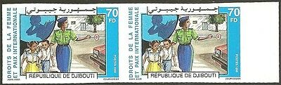 Djibouti #780 1998 Women's Rights & Intl Peace 70fd imperf MNH pair. Michel 662