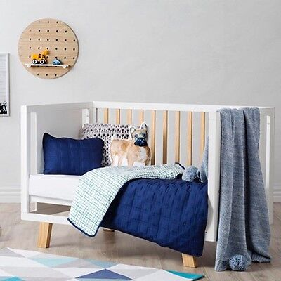 Adairs Kids Kenji Cot Quilted Cot Cover Set Rrp$129.99