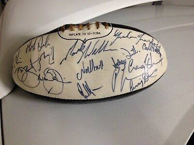 COLLINGWOOD Football Club Autographed Football by early 1980's team
