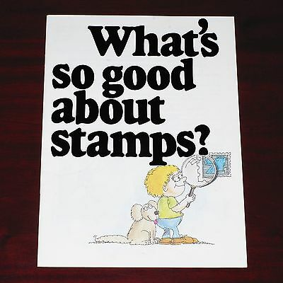 """"""" What's so good about stamps? """" - Australia Post stamp booklet - 1978"""