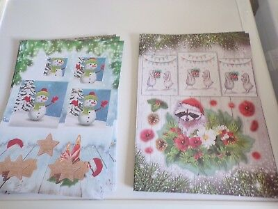 2X 3D Sheets Die Cut No Scissors Need Christmas (A61) New 30X21 Cm
