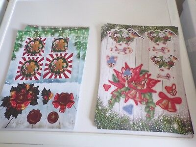 2X 3D Sheets Die Cut No Scissors Need Christmas (A64) New 30X21 Cm