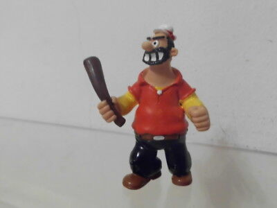 Popeye Comics Spain Figur ca. 7,0 cm: Brutus Hemd orange mit Keule