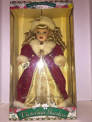 Victorian Garden Genuine Porcelain Doll-1999 Holiday Limited Edition Nib