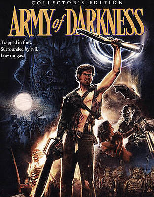 Army Of Darkness [Collector's Edition] [Blu-ray], Excellent DVD, Bruce Campbell,