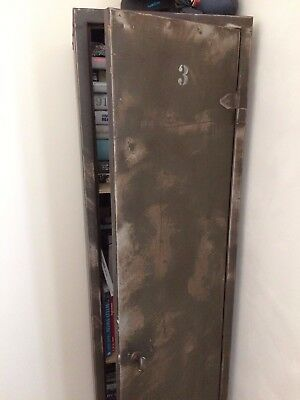 Vintage Industrial Metal Storage Locker