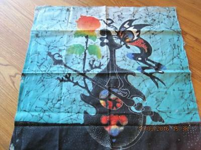 Vintage AFRICAN TEXTILE Tie Dyed Style Material 18 1/2 by 19 1/2 inches Small