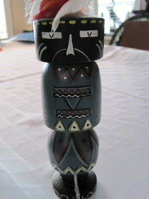 Painted NATIVE AMERICAN Doll Signed JYTTE Beautiful