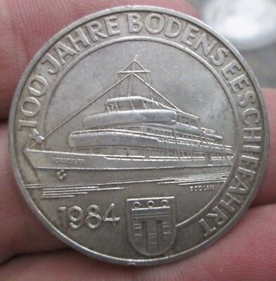 1984 Austria 100th Anniversary Commercial Shipping 500 Schilling Silver Coin NR