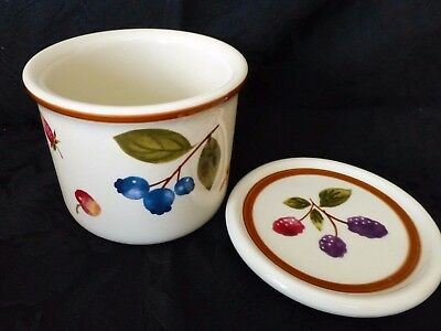 Longaberger Pottery One Pint Berry Crock & Lid NEW