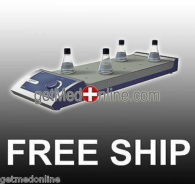 Scilogex 10 Channel Analog Magnetic Stirrer w/Stainless Steel Plate, MS-M-S10