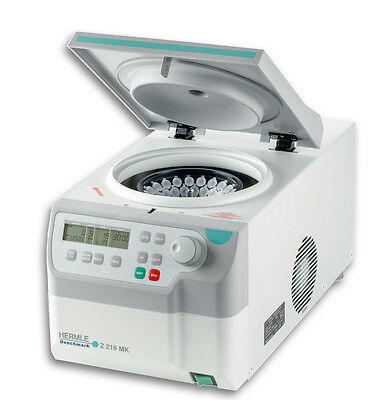 NEW ! Hermle Z216 Refrigerated MicroCentrifuge w/44 x 1.5/2.0ml Microtube Rotor