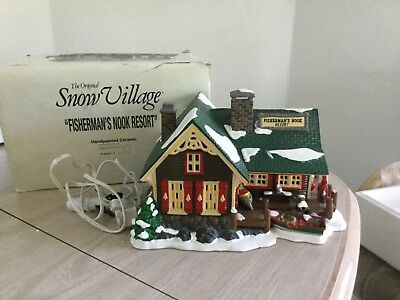 Dept 56 Snow Village Fishermans Nook Resort