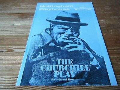 1984  Theatre  Programme  -  The  Churchill Play -  At The Nottingham  Playhouse